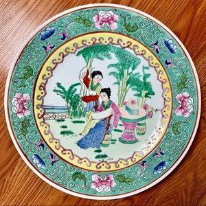 2 Antique Porcelain Plates Hand Painted in Macau